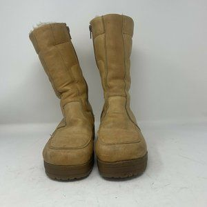 VTG Blondo Womens Tan Snow Leather Boots - 8